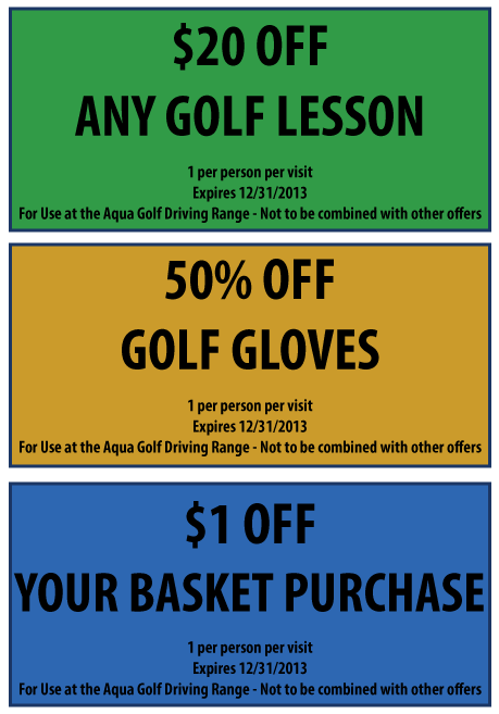 Aqua Golf Range Coupons